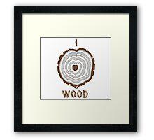I Heart Wood Framed Print
