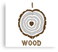 I Heart Wood Canvas Print