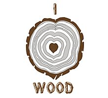 I Heart Wood Photographic Print