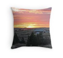 """Medical Lake Sunset"" Throw Pillow"