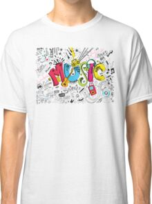 Music Instruments Collage Classic T-Shirt