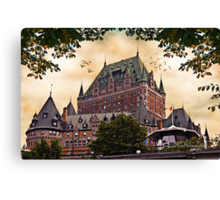 Chateau Frontenac at Sunset Canvas Print