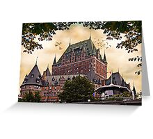 Chateau Frontenac at Sunset Greeting Card