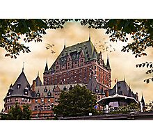 Chateau Frontenac at Sunset Photographic Print