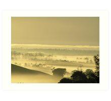 Layers of mist. Art Print
