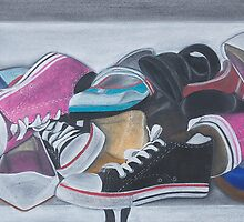Cluttered Shoes by Brittany Murray