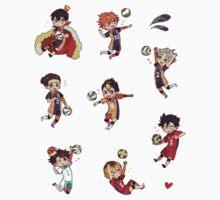 Haikyuu!! Sticker Pack (SMALL Set) by marburusu