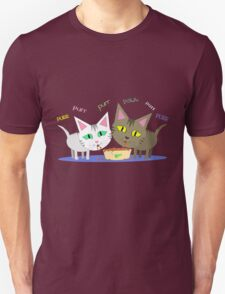 Happy Cats Eating T-Shirt Unisex T-Shirt