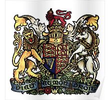 A Complete Guide To Heraldry - Plate I - Royal Arms of England Poster