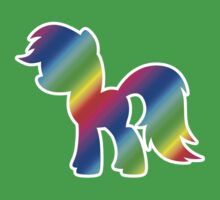 Rainbow Pony Silhouette Kids Clothes