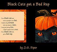 """Black Cats get a Bad Rap - """"Pumpkin Hat"""" by J.G. Piper"""