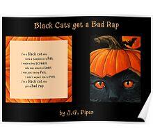 """Black Cats get a Bad Rap - """"Pumpkin Hat"""" Poster"""