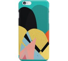 Turquoise pattern landscape iPhone Case/Skin