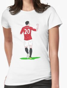 Ooooh Robin Van Persie Womens Fitted T-Shirt