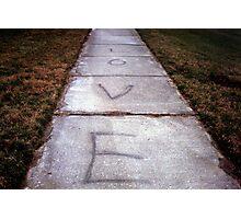 Sidewalk Love  Photographic Print