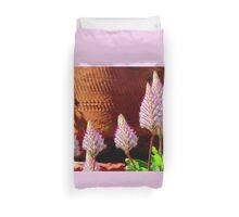 A Flurry Of Furry Flowers Duvet Cover