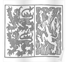 A Complete Guide to Heraldry - Figure 275 — Arms of Strange and Talbot (From a design for a banner) Poster