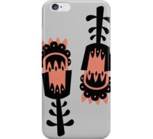 Giant Peach and Black vector flowers iPhone Case/Skin