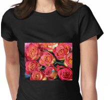 Roses of Fire Womens Fitted T-Shirt