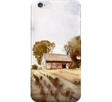 Lonely house on a hillfarm iPhone Case/Skin