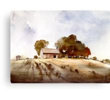 Lonely house on a hillfarm Canvas Print
