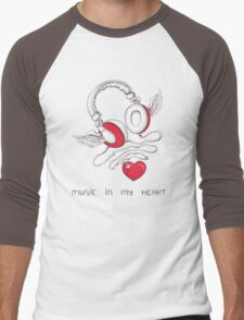 Music In My Heart Men's Baseball ¾ T-Shirt