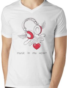 Music In My Heart Mens V-Neck T-Shirt