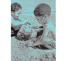 Brothers at the Beach Photographic Print