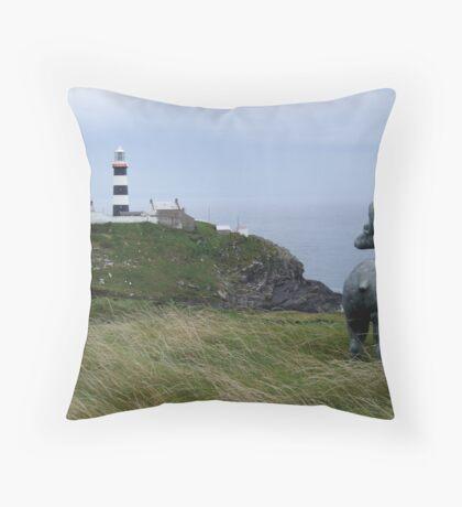 Lighthouse, Near Kinsale Throw Pillow