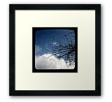 Pear Tree And Cloud Ttv Framed Print