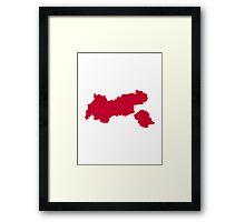 Tirol map austria Framed Print