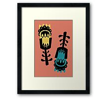 Giant colourful florals Framed Print