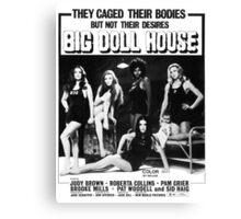 Big Doll House (Black & White) Canvas Print