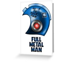 Full Metal Man Greeting Card