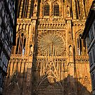 Dusk Shadow on Strasbourg Cathedral by AmyRalston