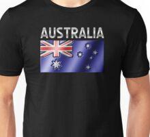 Australia - Australian Flag & Text - Metallic Unisex T-Shirt
