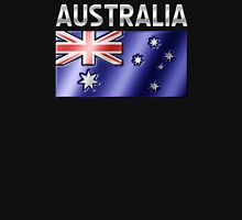 Australia - Australian Flag & Text - Metallic Unisex T-Shirt