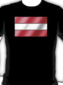 Austrian Flag - Austria - Metallic T-Shirt