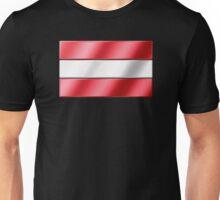 Austrian Flag - Austria - Metallic Unisex T-Shirt
