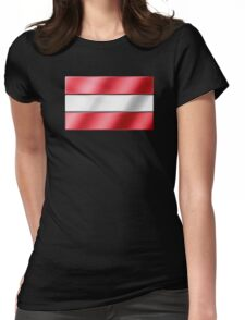 Austrian Flag - Austria - Metallic Womens Fitted T-Shirt
