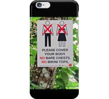 Modesty, Please iPhone Case/Skin