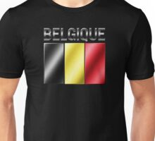 Belgique - Belgian Flag & Text - Metallic Unisex T-Shirt
