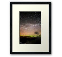 A Scottish Highlands milky way with a distant aurora.  Framed Print
