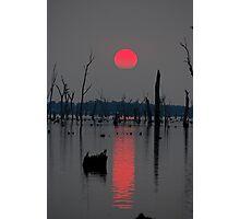 'A smokey sunset' Photographic Print