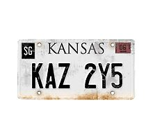 Impala Licence Plate by tardisimpala221