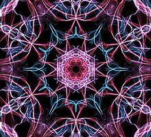 Pink & Blu Burst by Glamzar