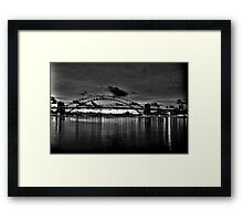 Dark City - Sydney Harbour Dawn - Moods Of A City - The HDR Experience Framed Print