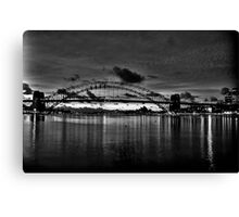 Dark City - Sydney Harbour Dawn - Moods Of A City - The HDR Experience Canvas Print