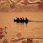 Gold Silk Water, Gold Chinese Silk  by Jane McDougall