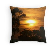 Windscreen sunrise  Throw Pillow